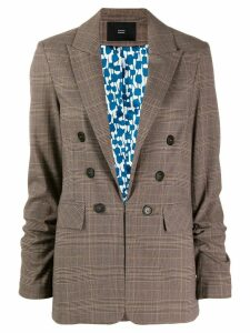 Steffen Schraut Cotswolds check blazer - Brown