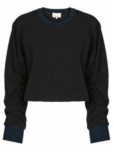 3.1 Phillip Lim Cropped Sweatshirt - Black