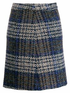 Steffen Schraut plaid high waisted skirt - Blue