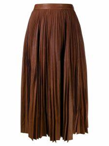 Prada pleated midi skirt - Brown
