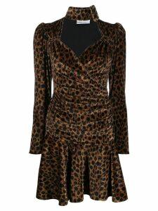 Attico leopard print mini dress - Green