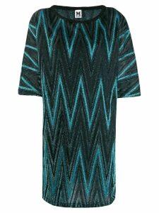 M Missoni zigzag metallic shift dress - Blue