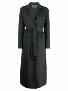 Prada belted button-front coat - Grey