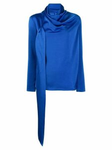 Gianluca Capannolo asymmetric draped blouse - Blue