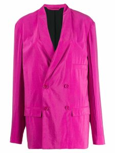 Lemaire double breasted blazer - Pink