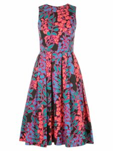Carolina Herrera floral print midi dress - Black