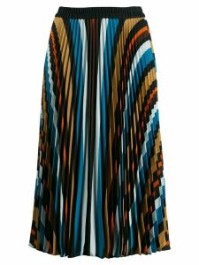 Steffen Schraut striped pleated skirt - Blue