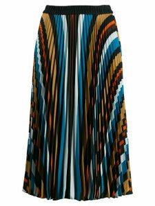 Steffen Schraut striped pleated skirt - Blue