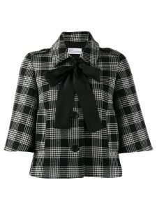 Red Valentino REDValentino cropped checked jacket - Black