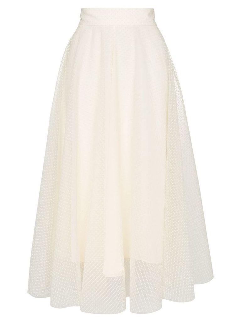 Zimmermann layered ballet midi skirt - White