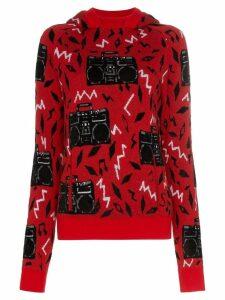Saint Laurent Beatbox intarsia jumper - Red