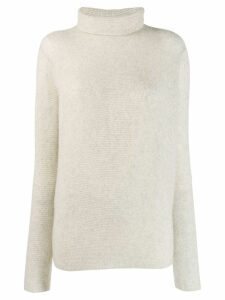 Suzusan ribbed roll neck sweatshirt - Grey
