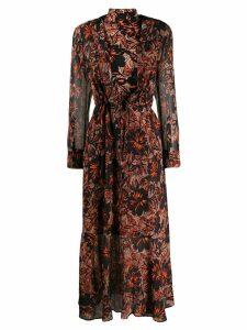 Dorothee Schumacher printed turtleneck maxi dress - Black