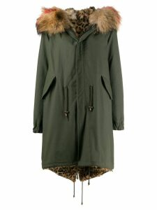 Furs66 fur lined parka coat - Green