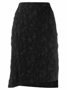 Issey Miyake patterned skirt - Black