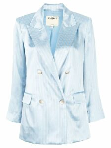 L'agence satin striped blazer - Blue