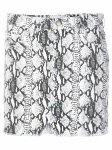 FRAME snake-print mini skirt - White