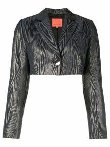 Manning Cartell cropped lurex blazer - Blue