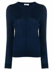 Closed fine knit sweatshirt - Blue