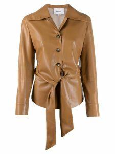 Nanushka Poppy faux leather overshirt - Brown