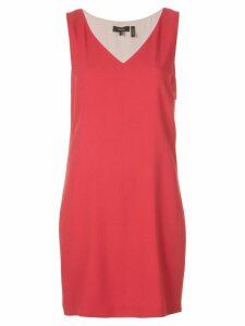 Theory V-neck dress - Red