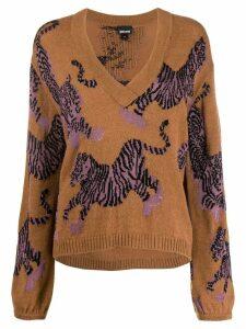 Just Cavalli tiger patterned jumper - Brown