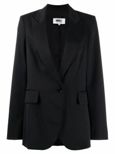 Mm6 Maison Margiela single-breasted blazer - Black