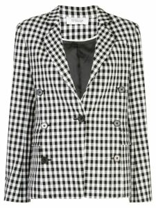 Derek Lam 10 Crosby Double-Breasted Gingham Blazer - Black