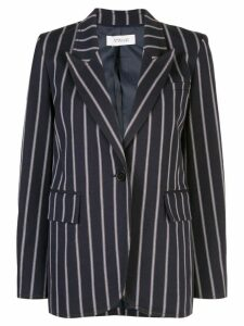 Derek Lam 10 Crosby Pencil Striped Blazer with Contrast Rib Trim -