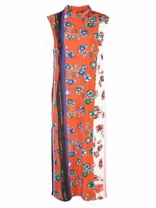 Derek Lam 10 Crosby Belted Sleeveless French Floral Dress with