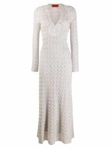 Missoni long textured dress - Neutrals