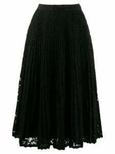 Miu Miu floral lace pleated skirt - Black