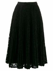 Miu Miu floral lace pleated skirt - Black