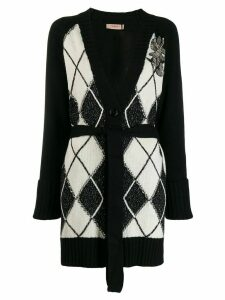 Twin-Set patterned cardi-coat - Black