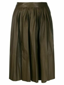 Yves Salomon pleated skirt - Brown