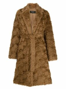Rochas shaggy robe coat - NEUTRALS
