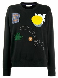 Tory Burch multi-patch sweatshirt - Black