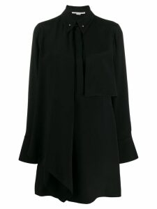 Stella McCartney draped panel shirt dress - Black