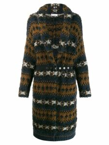 Brunello Cucinelli chunky knit cardi coat - Brown