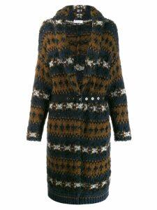 Brunello Cucinelli chunky knit cardi coat - Brown