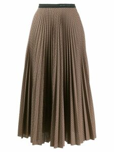 Prada checked pleated midi skirt - Neutrals