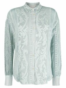 Forte Forte sheer embroidered shirt - Blue