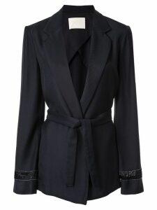 Dion Lee belted wrap blazer - Black