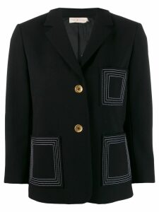 Tory Burch contrast stitch blazer - Black