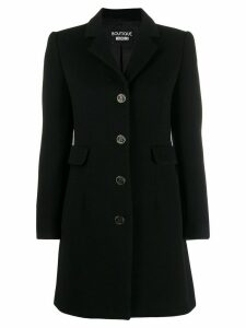 Boutique Moschino single breasted coat - Black