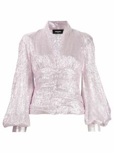 Dsquared2 balloon sleeve plunge blouse - Pink