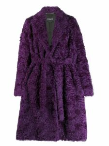 Rochas shaggy robe coat - Purple