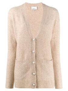 3.1 Phillip Lim faux pearl button cardigan - Neutrals