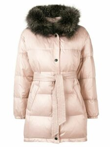 Yves Salomon Army hooded padded coat - PINK