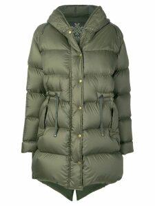 Mr & Mrs Italy hooded padded coat - Green